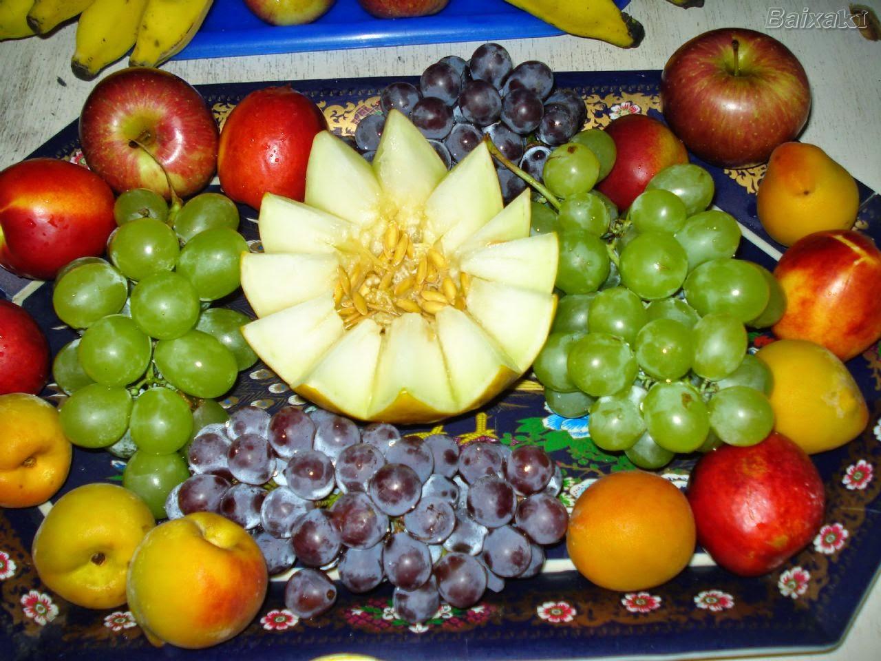 Decoraç u00e3o da mesa para o Natal -> Decoraçao Com Frutas Para Ano Novo